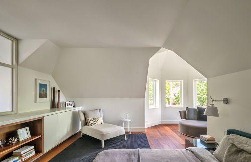 复古舒适现代风格白色卧室效果图