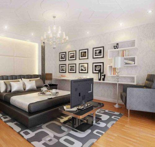 精致大气现代简约风格卧室照片墙实景图