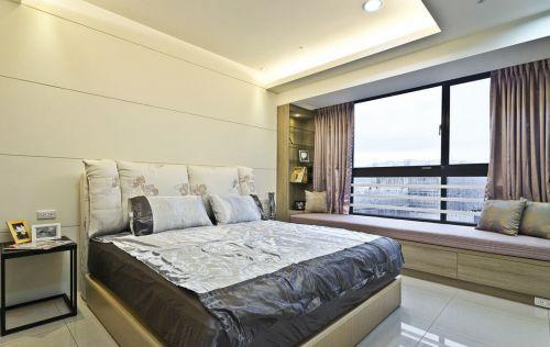 雍容典雅现代简约风格卧室飘窗实景图
