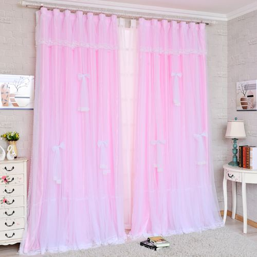 粉色可爱甜蜜现代简约窗帘效果图