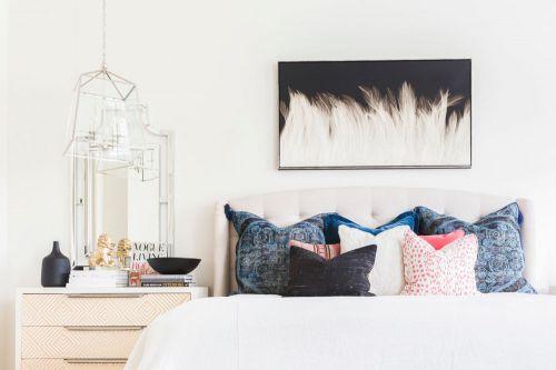 时尚米白现代卧室装修效果图