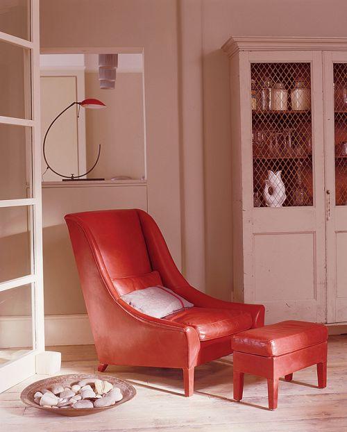 现代简约卧室红色懒人沙发效果图