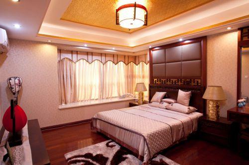 现代两居室卧室新中式装修样板间