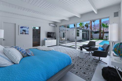 时尚现代风格别墅卧室个性吊顶设计图