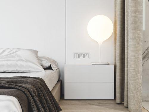 现代风格简洁大方卧室床头柜装修图片