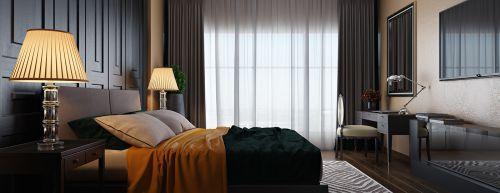 现代浓情黑色卧室装修效果图