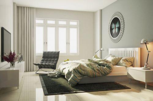 清新明亮现代风格时尚卧室图片欣赏