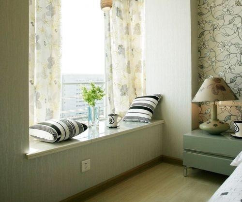 现代简约风格卧室飘窗装修效果图