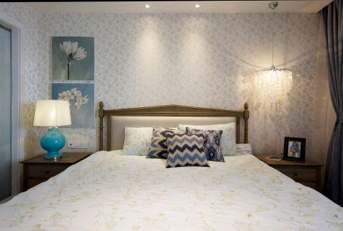 唯美现代风格卧室背景墙案例欣赏