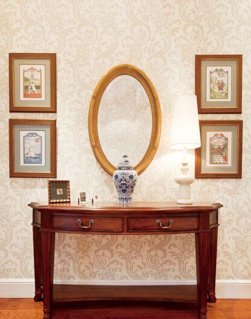 美式现代风卧室梳妆台效果图