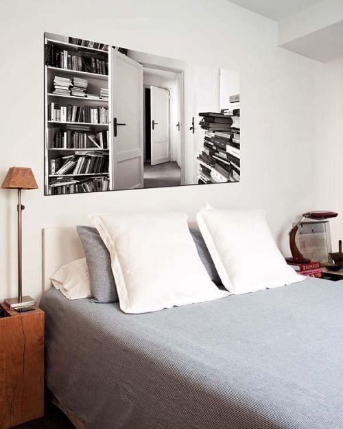 雅致现代风格卧室背景墙装修设计图
