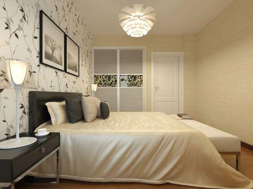 现代简约二居室卧室床头柜装修效果图大全