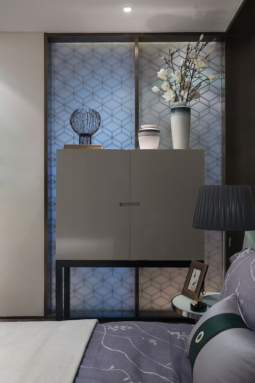 现代简约中式风格卧室装修效果图