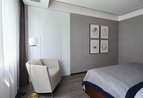 灰色简约现代风格卧室装修实景图