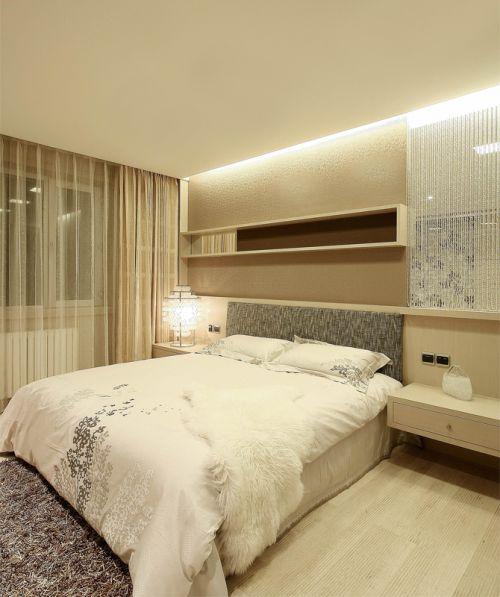 现代简约六居室卧室床装修图片