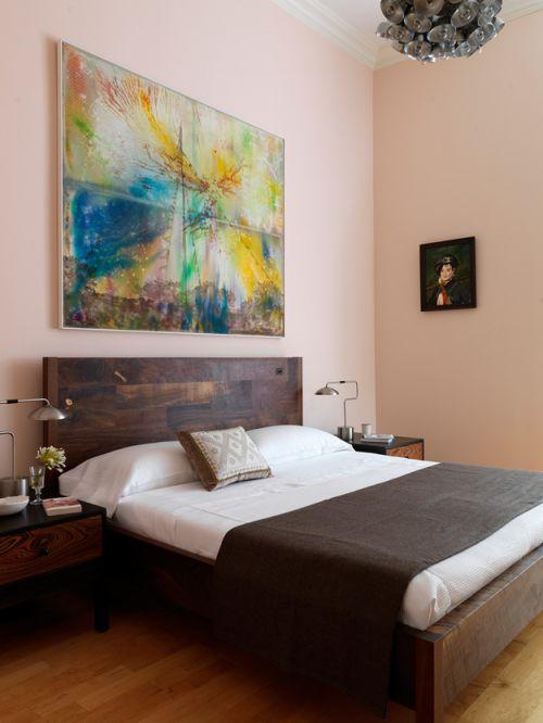 现代风格精致文艺卧室装修实景图