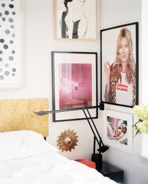时尚现代风格卧室艺术感背景墙设计图