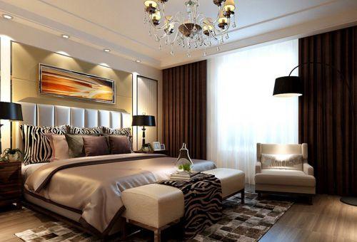 现代简约四居室卧室床头柜装修图片