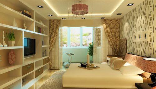 现代简约二居室卧室飘窗装修图片