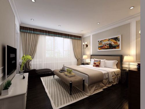 现代简约复式卧室装修图片欣赏