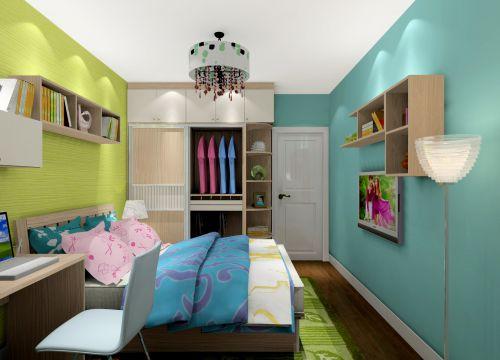 现代简约三居室卧室装修效果图大全