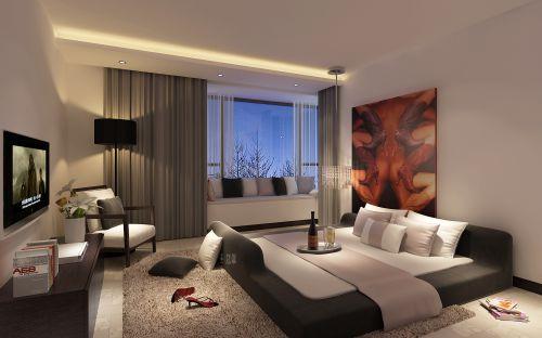 现代简约四居室卧室装修图片欣赏