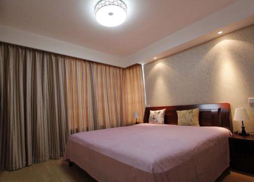 现代简约二居室卧室背景墙装修图片