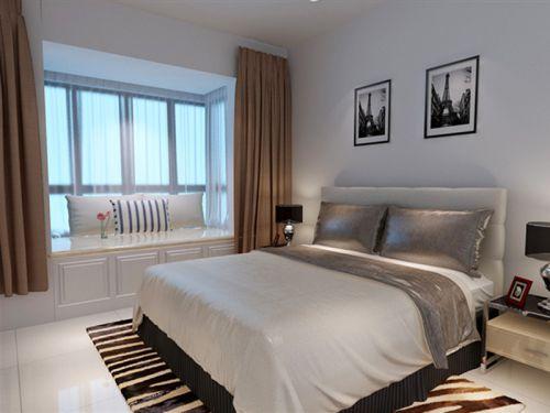 现代简约二居室卧室床装修图片
