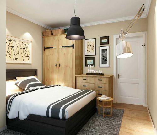 现代简约二居室卧室衣柜装修效果图