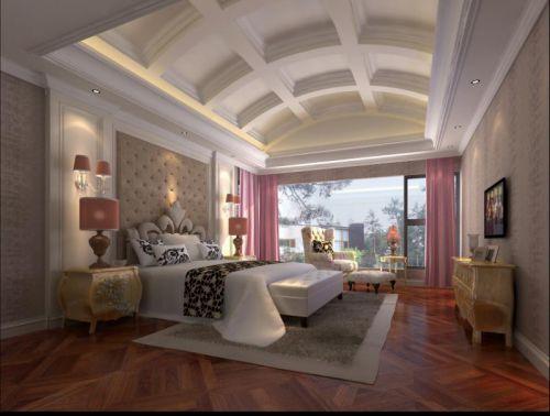 古典与现代结合四居室卧室吊顶装修效果图大全