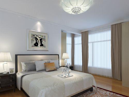 现代简约二居室卧室照片墙装修效果图欣赏