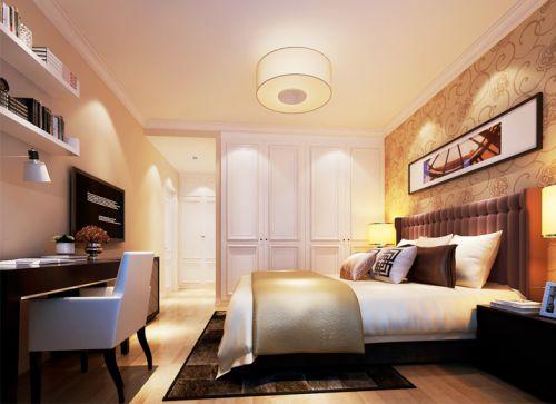 现代简约三居室卧室装修图片欣赏