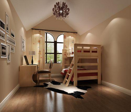 现代简约复式卧室隔断装修效果图