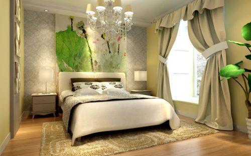现代简约三居室卧室隔断装修效果图