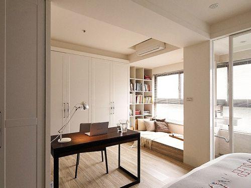 现代简约三居室卧室榻榻米装修图片