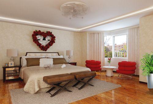 现代简约四居室卧室窗帘装修效果图大全