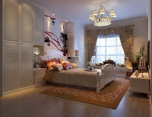 现代简约三居室卧室飘窗装修效果图欣赏