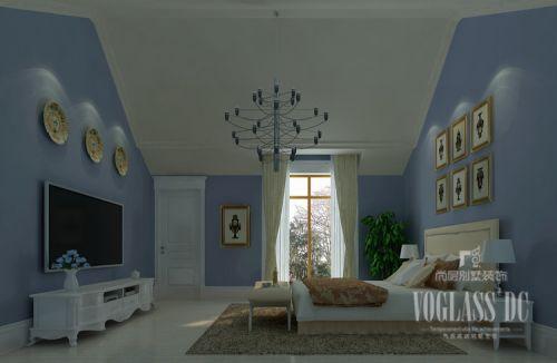 现代简约三居室卧室吊顶装修效果图欣赏