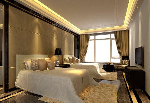 现代简约别墅卧室飘窗装修效果图大全