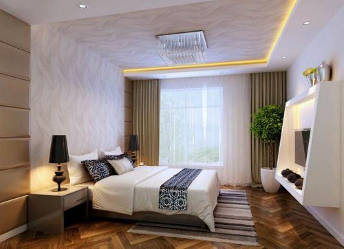 现代简约二居室卧室装修效果图欣赏