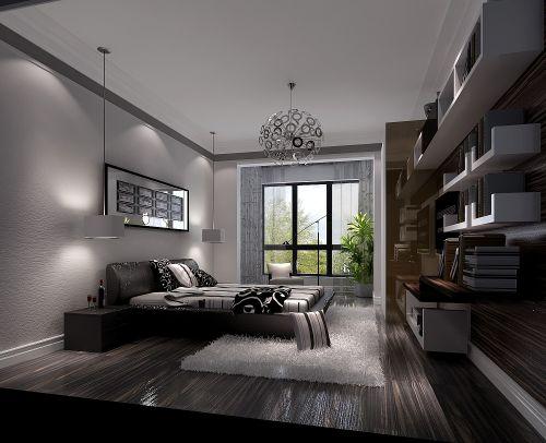 现代简约二居室卧室装修图片欣赏