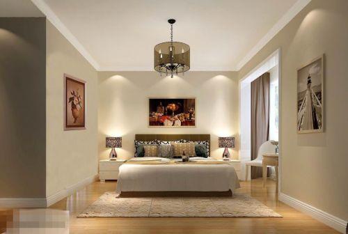 现代简约四居室卧室飘窗装修效果图欣赏