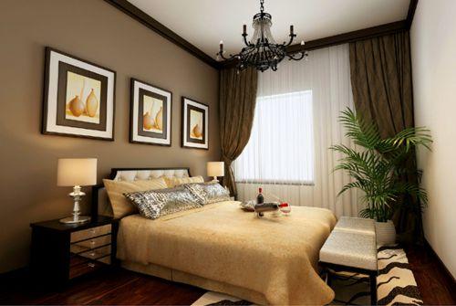 现代简约别墅卧室隔断装修效果图欣赏