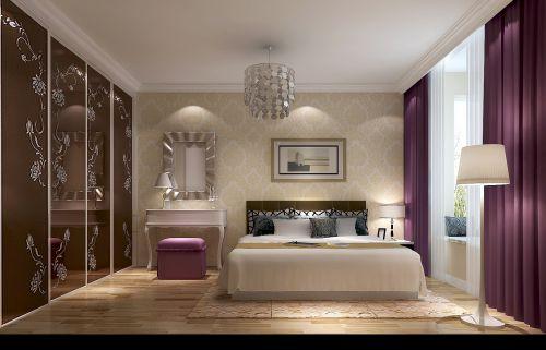 现代简约二居室卧室窗帘装修效果图欣赏