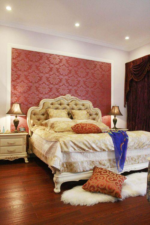 115平三居简欧装修样板间卧室实景图