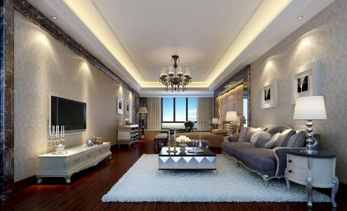 六居室简欧风格客厅卧室装修