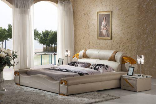 简欧风格米色卧室床头柜效果图