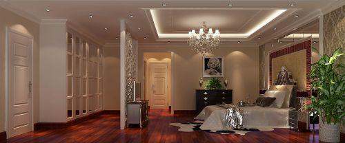 简欧风格三居室卧室屏风储物柜装修效果图大全