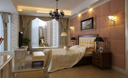 简欧风格四居室卧室飘窗装修效果图