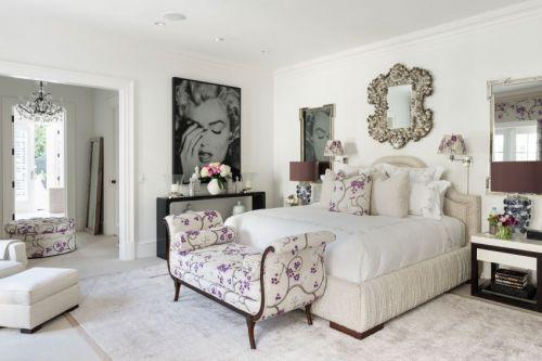 温馨舒适简欧风格卧室床铺装修设计
